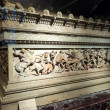 The famous sarcophagus of Alexander in the Istanbul Archaeology — Stock Photo