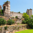 Stock Photo: Ruins of famous ancient walls of Constantinople in Istanbul,
