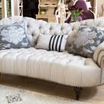 Classic sofa in a furniture store — Stock Photo