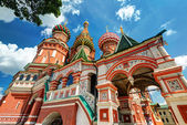 The St. Basil's Cathedral in Moscow, Russia — Stock Photo