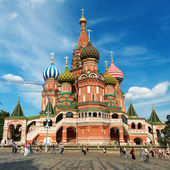 Saint Basil cathedral on the Red Square in Moscow, Russia. (Pokr — Stock Photo