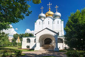 Smolensky cathedral in Novodevichy convent in Moscow — Stock Photo