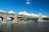 Pedestrian Andreevsky bridge in Moscow — Stock Photo
