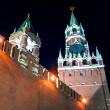 The Spasskaya Tower of Moscow Kremlin at night — Foto Stock