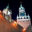 The Spasskaya Tower of Moscow Kremlin at night — 图库照片