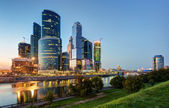 Moscow-city (Moscow International Business Center) at night — Stock Photo