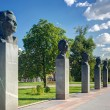 Постер, плакат: Monuments to Yuri Gagarin on the Cosmonauts Alley in Moscow