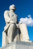 Statue of Konstantin Tsiolkovsky, the precursor of astronautics, — Stock Photo