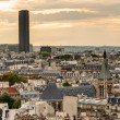 Paris skyline with Maine-Montparnasse Tower — Stock Photo