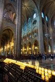 Turister som besöker katedralen notre-dame de paris — Stockfoto