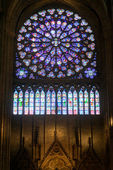The interior of the Notre Dame de Paris — Stockfoto
