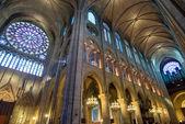 Interior of the Notre Dame de Paris — Stock Photo