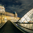 Stock Photo: Louvre museum at night in Paris