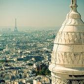 Blick von paris vom sacre coeur — Stockfoto
