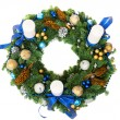 Christmas decoration wreath — Stock Photo