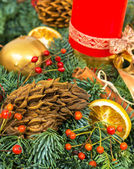 Christmas and New Year holiday decoration — Stock Photo