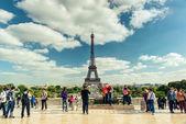 Eiffelova věž v paříži — Stock fotografie