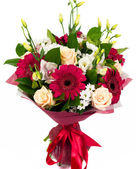 Bouquet of roses, gerberas and orchids — Stock Photo