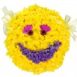 Stock Photo: Smile. Decoration from natural flowers.