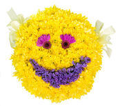 Smile. Decoration from natural flowers. — Stock Photo