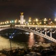 Alexandre III bridge at night in Paris — Stock Photo #38109707
