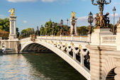 Alexandre III bridge in Paris — Stock Photo