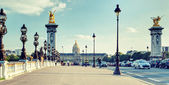 Alexandre III bridge in Paris — Foto Stock