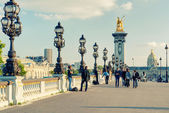 Alexandre III bridge in Paris — Стоковое фото