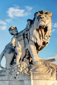 Detail of the Alexandre III bridge in Paris — Stock Photo