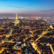 View of Paris with the Eiffel Tower at night — Stock Photo #38192095