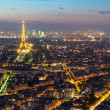 View of Paris with the Eiffel tower from the Montparnasse tower — Stock Photo #38192105