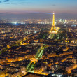 View of Paris with the Eiffel Tower at night — Stock Photo #38192111