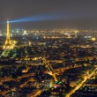 View of Paris with the Eiffel Tower — Stock Photo