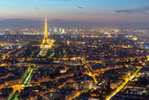 View of Paris with the Eiffel tower from the Montparnasse tower — Photo