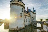 Het kasteel van sully-sur-loire bij zonsondergang, frankrijk — Stockfoto