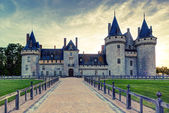 The chateau of Sully-sur-Loire at sunset, France. — Foto Stock