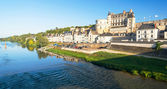 Chateau de Amboise on the river Loire, France — Stock Photo