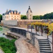 The Chateau de Chenonceau at sunset, France — Stock Photo #39264125