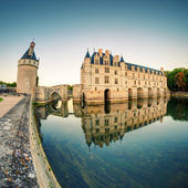 The Chateau de Chenonceau at sunset, France — Foto Stock