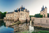 The Chateau de Chenonceau at sunset, France — Stockfoto