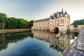 The Chateau de Chenonceau in the evening, France — Zdjęcie stockowe
