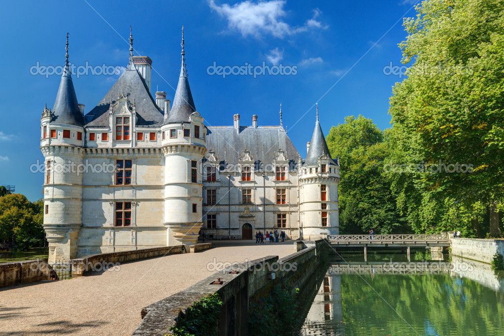 the chateau de azay le rideau france stock editorial photo scaliger 39889861. Black Bedroom Furniture Sets. Home Design Ideas