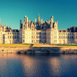 The royal Chateau de Chambord at sunset, France — Stock Photo