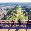 Stock Photo: Tourist looking to Champ de Mars on observation deck of