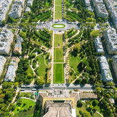 The Champ de Mars. View from the Eiffel Tower, Paris — ストック写真