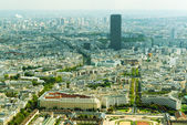 View of Paris with Montparnasse Tower — Stock Photo