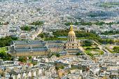 アンヴァリッド パリのエッフェル塔からの眺め — ストック写真