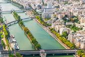 Pohled na paříž z eiffelovy věže — Stock fotografie