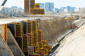 Construction site in Moscow — Stock Photo