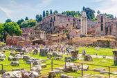 římské fórum v římě — Stock fotografie